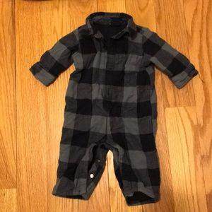 Baby Gap 3-6 month plaid one piece